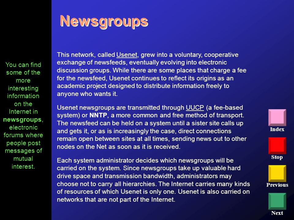 Newsgroups