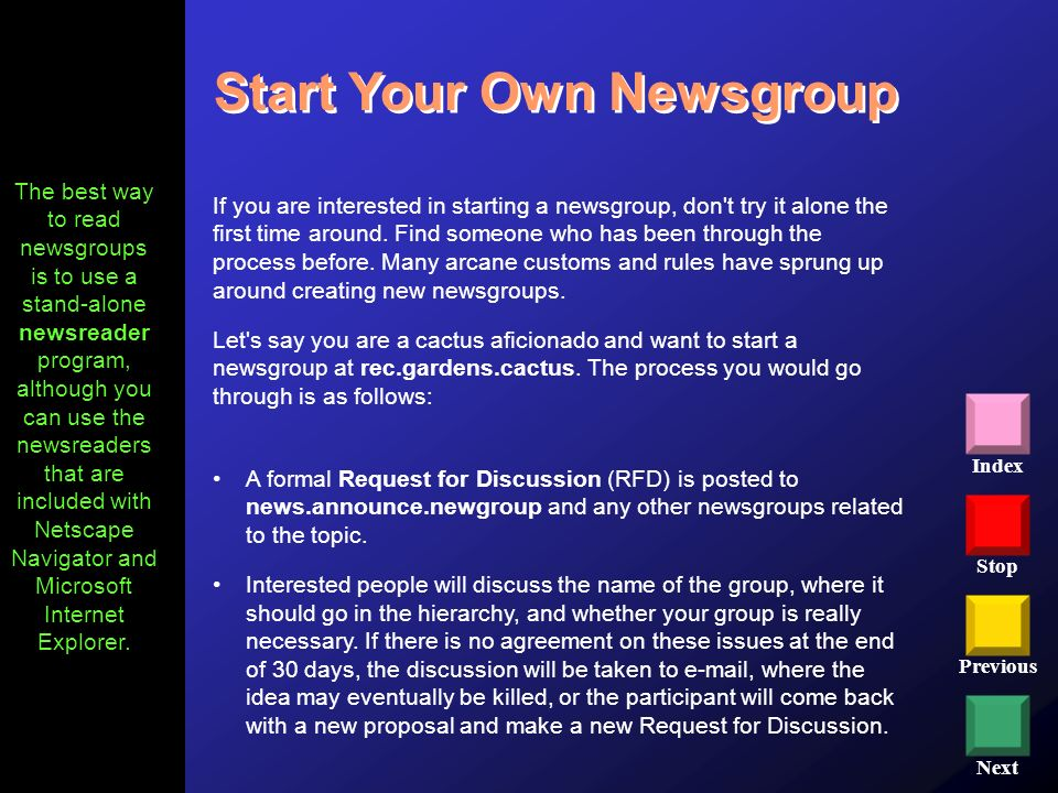 Start Your Own Newsgroup