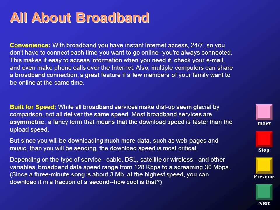 All About Broadband