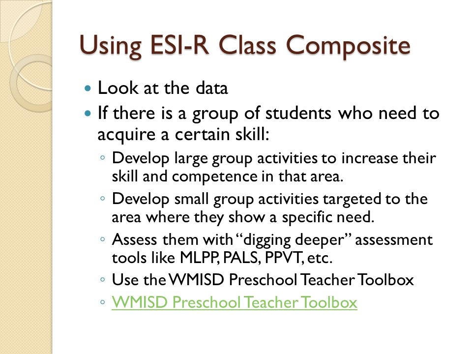 Using ESI-R Class Composite