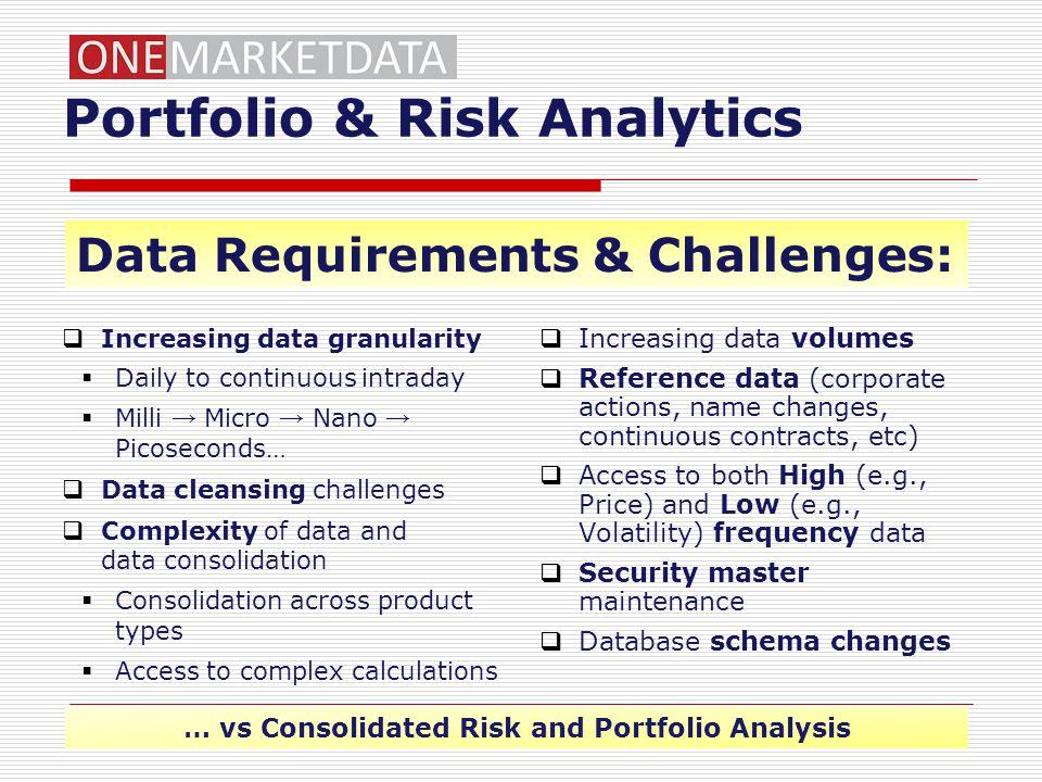 Portfolio & Risk Analytics