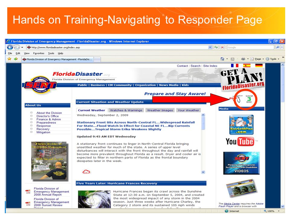 Hands on Training-Navigating to Responder Page