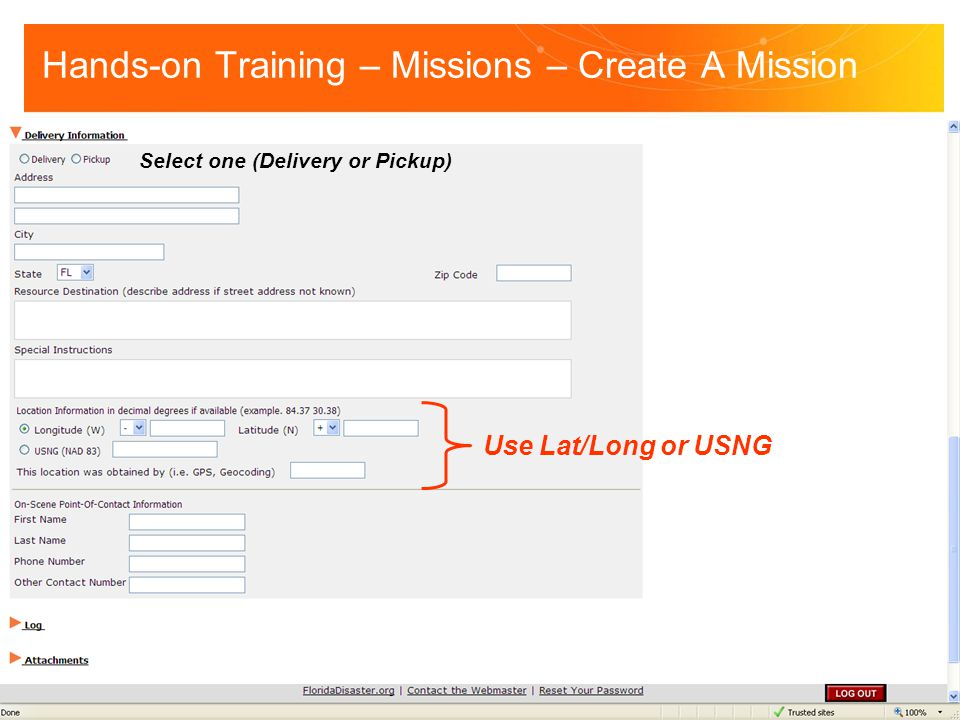 Hands-on Training – Missions – Create A Mission
