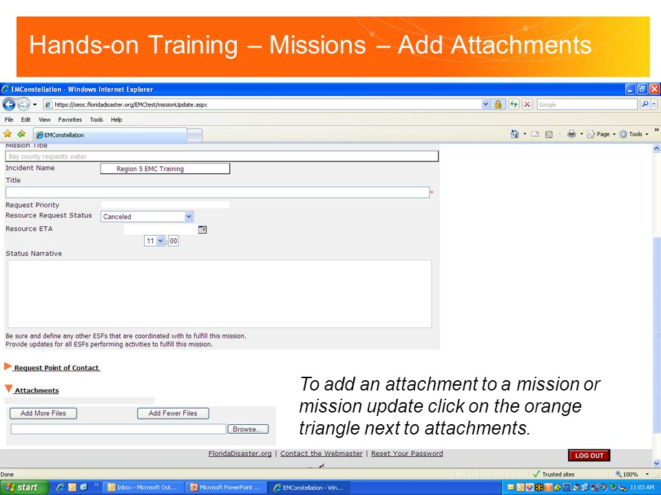 Hands-on Training – Missions – Add Attachments