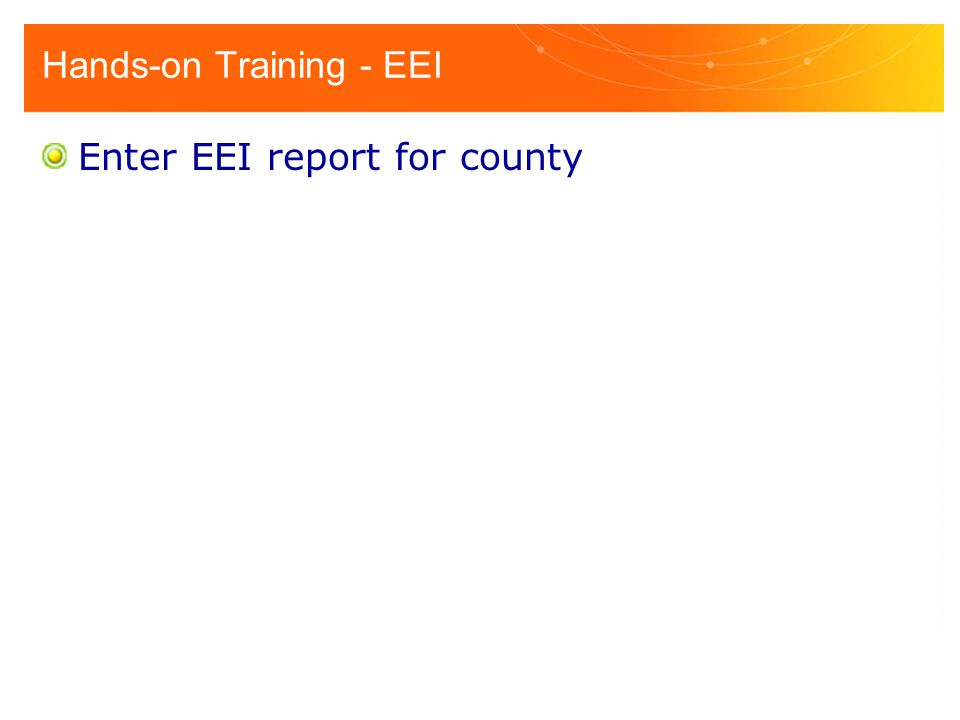 Hands-on Training - EEI