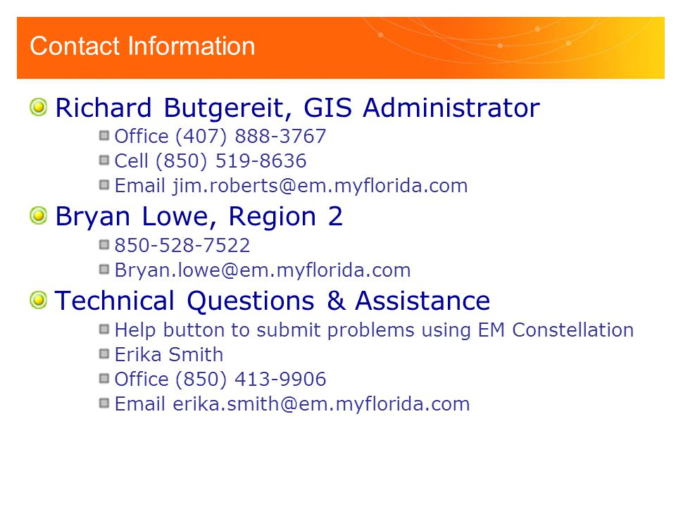 Richard Butgereit, GIS Administrator