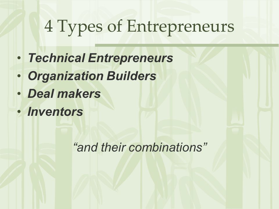 4 Types of Entrepreneurs