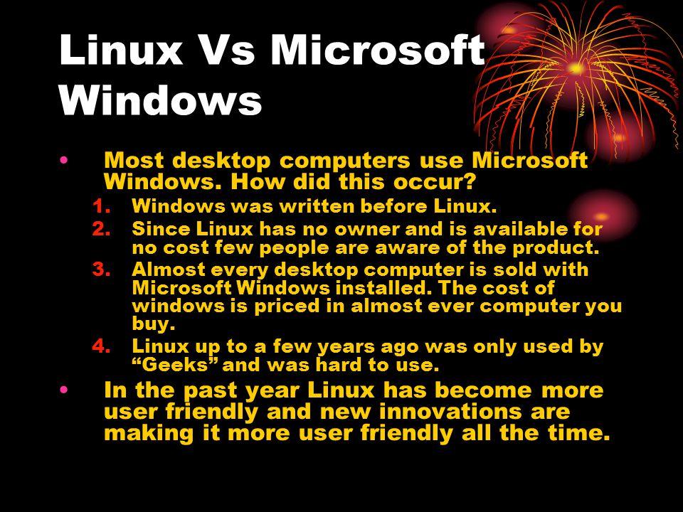 Linux Vs Microsoft Windows
