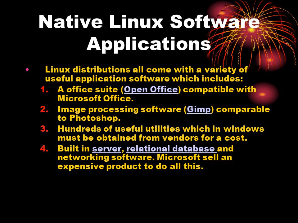 Native Linux Software Applications