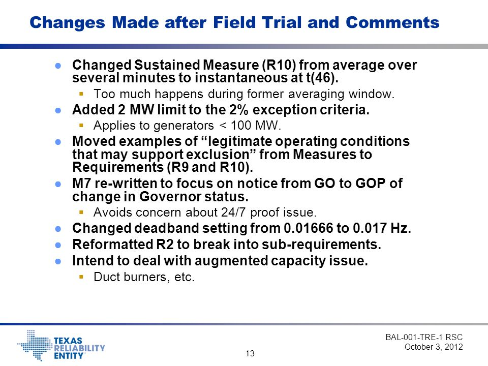 Changes Made after Field Trial and Comments