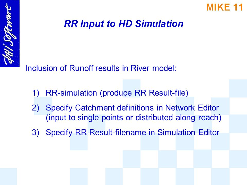 RR Input to HD Simulation