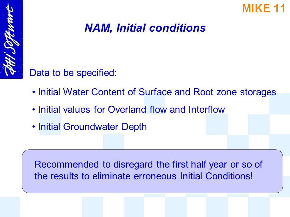 NAM, Initial conditions