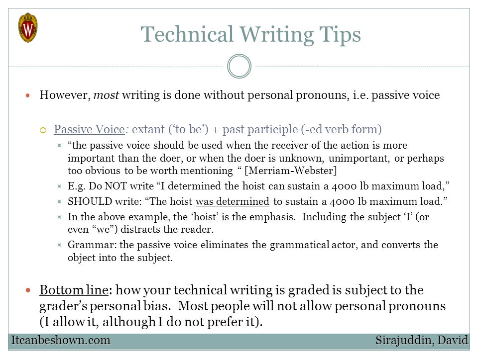 Technical Writing Tips