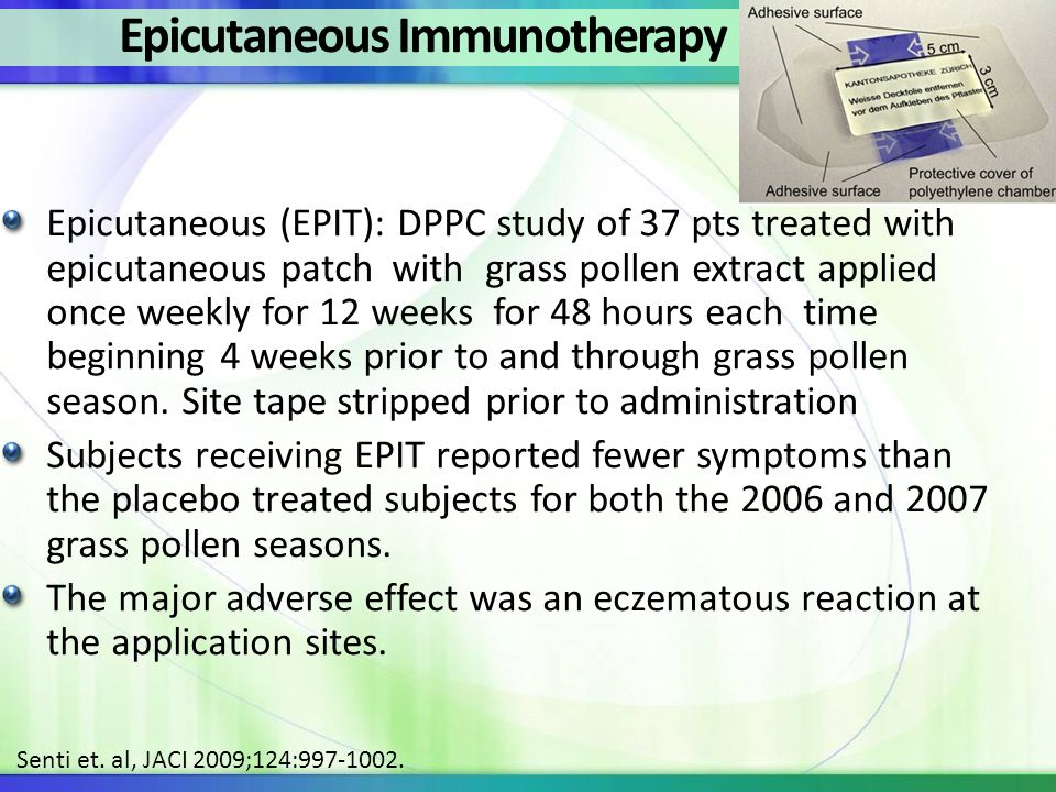 Epicutaneous Immunotherapy