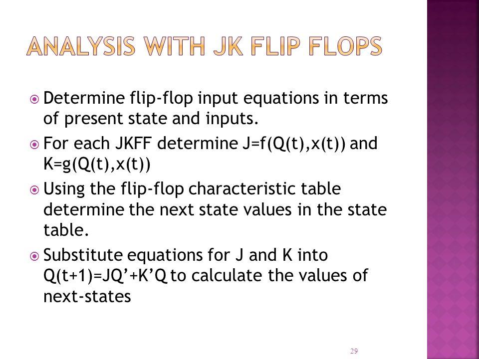 Analysis with JK Flip Flops