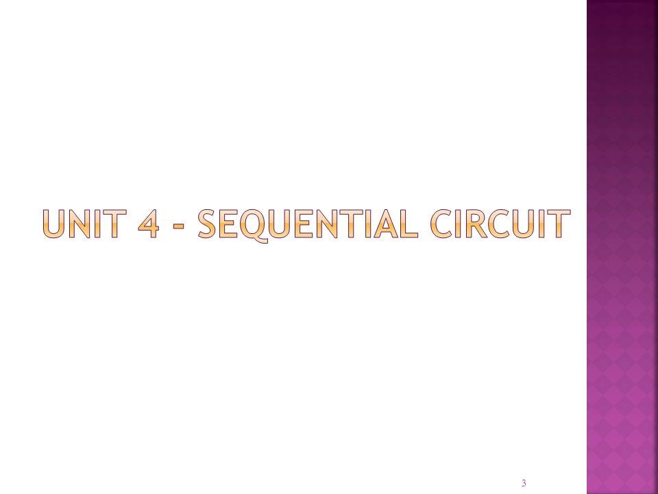 Unit 4 - sequential circuit