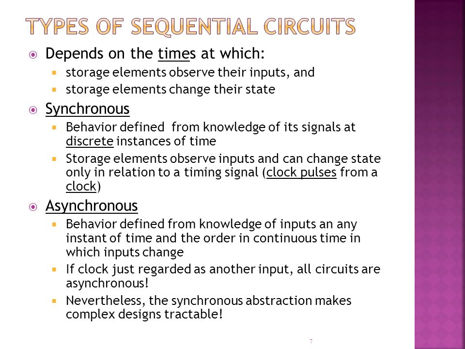 Types of Sequential Circuits