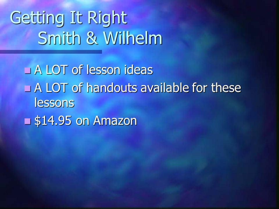 Getting It Right Smith & Wilhelm