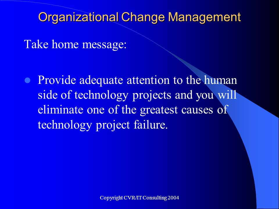 Organizational Change Management