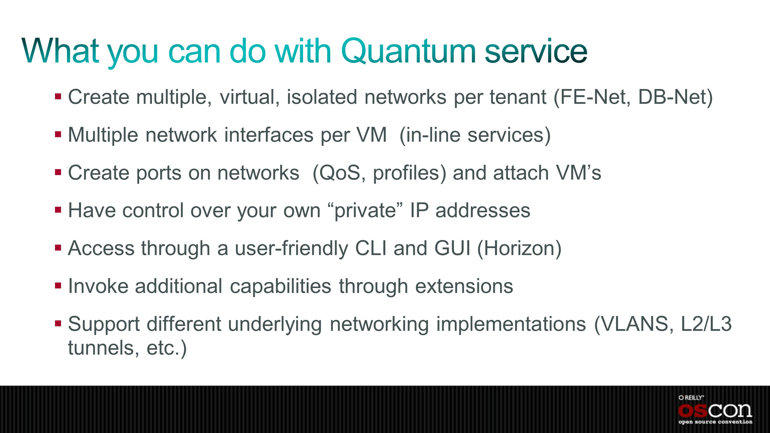 What you can do with Quantum service