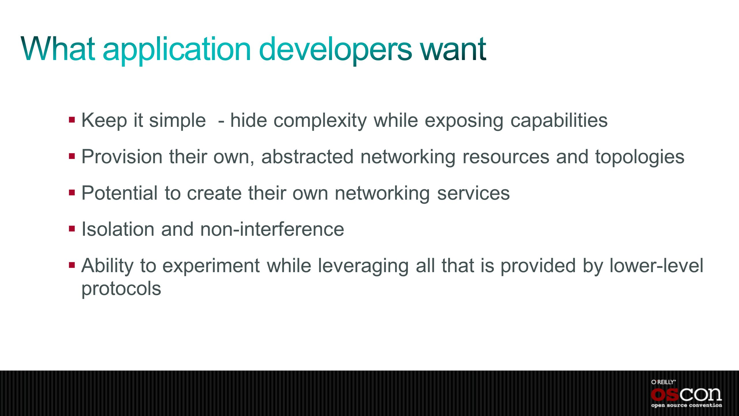 What application developers want