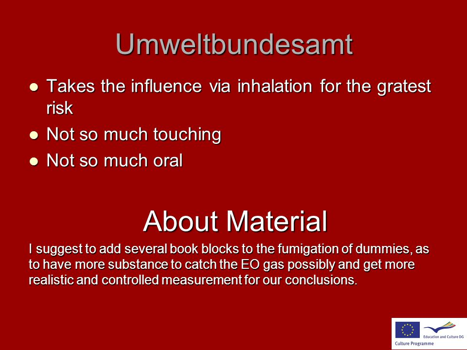 Umweltbundesamt About Material