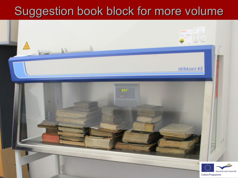 Suggestion book block for more volume