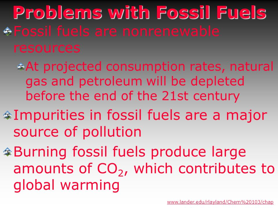 Problems with Fossil Fuels