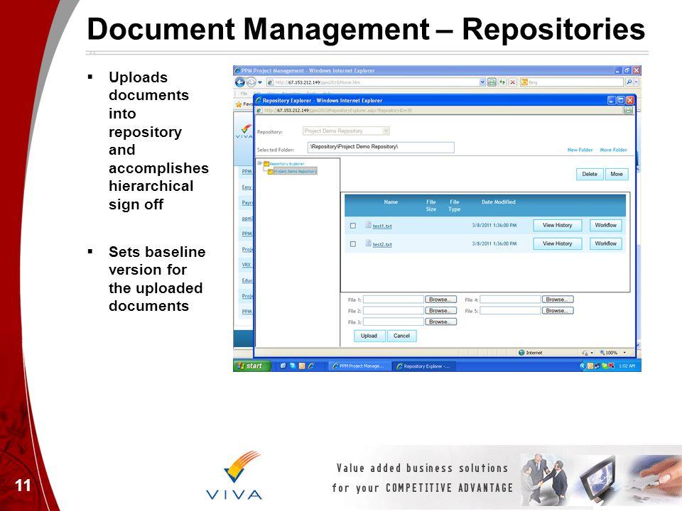 Document Management – Repositories
