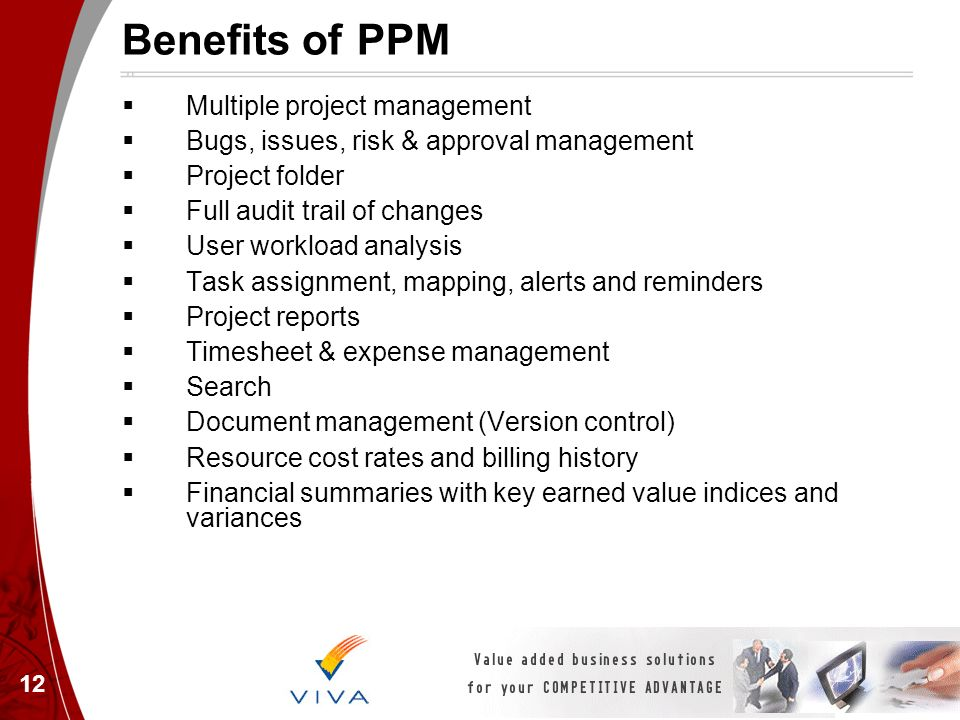 Benefits of PPM Multiple project management