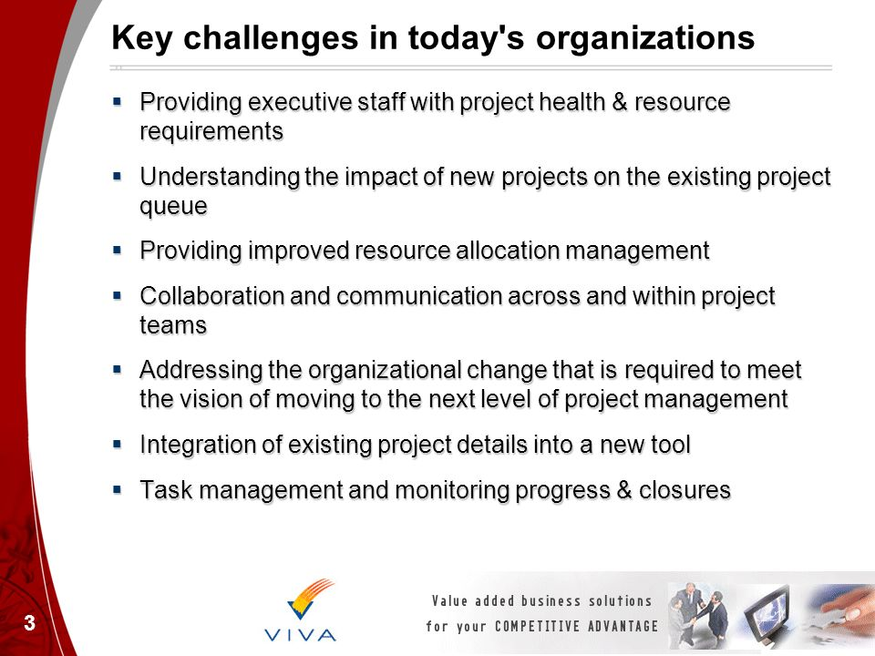 Key challenges in today s organizations