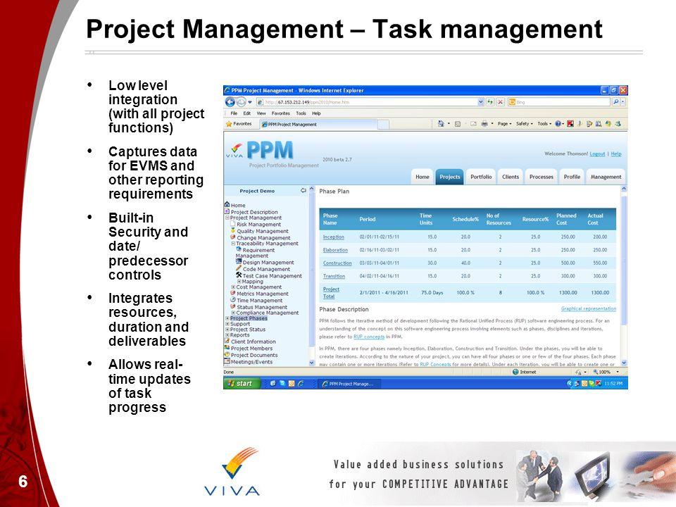 Project Management – Task management