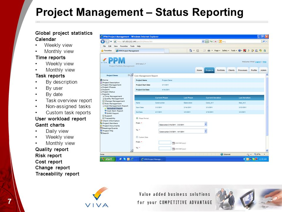 Project Management With Viva Ppm Tool Project Portfolio Management