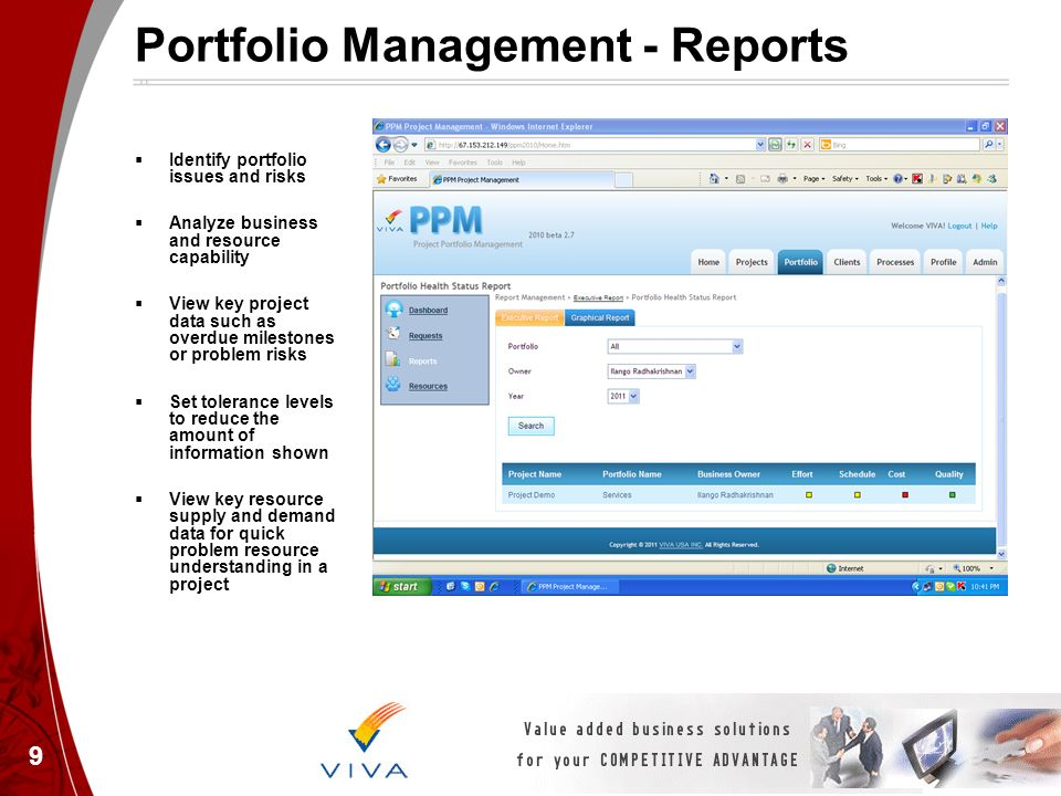 Portfolio Management - Reports