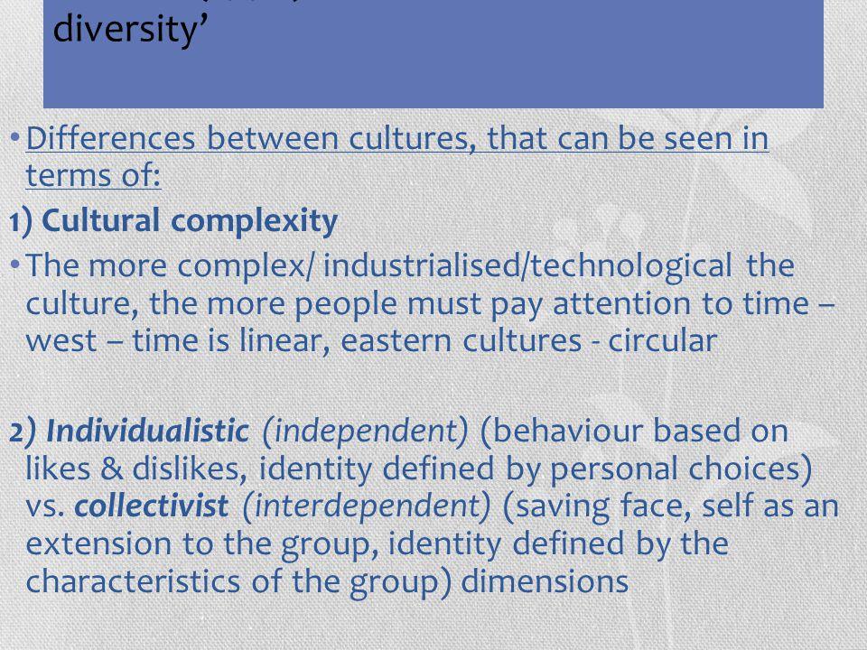 Triandis (1990) 'dimensions of cultural diversity'