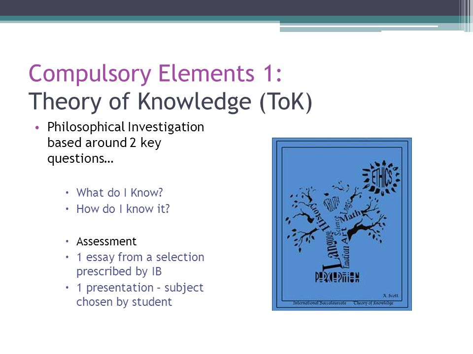 Compulsory Elements 1: Theory of Knowledge (ToK)