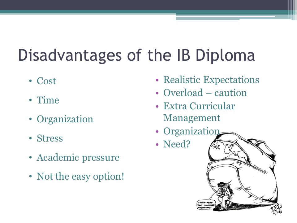 Disadvantages of the IB Diploma