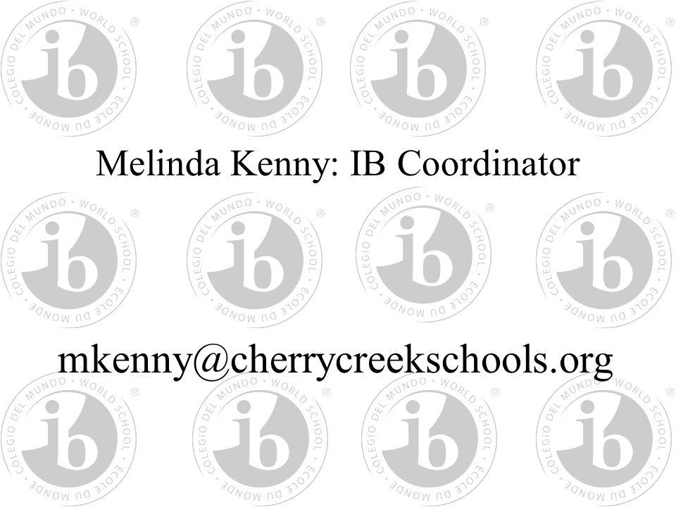 Melinda Kenny: IB Coordinator