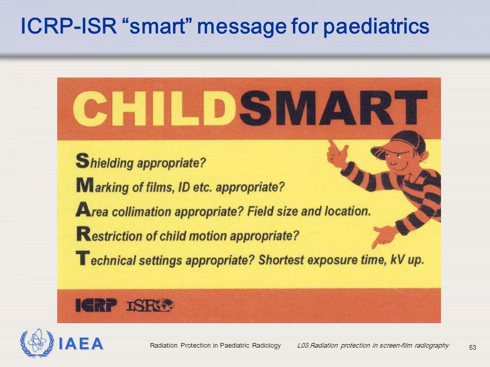 ICRP-ISR smart message for paediatrics