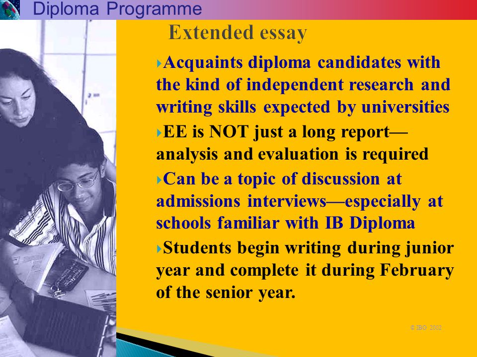 Extended essay Diploma Programme
