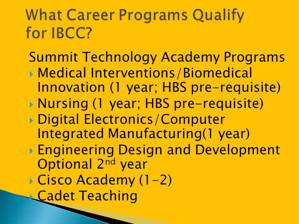 What Career Programs Qualify for IBCC