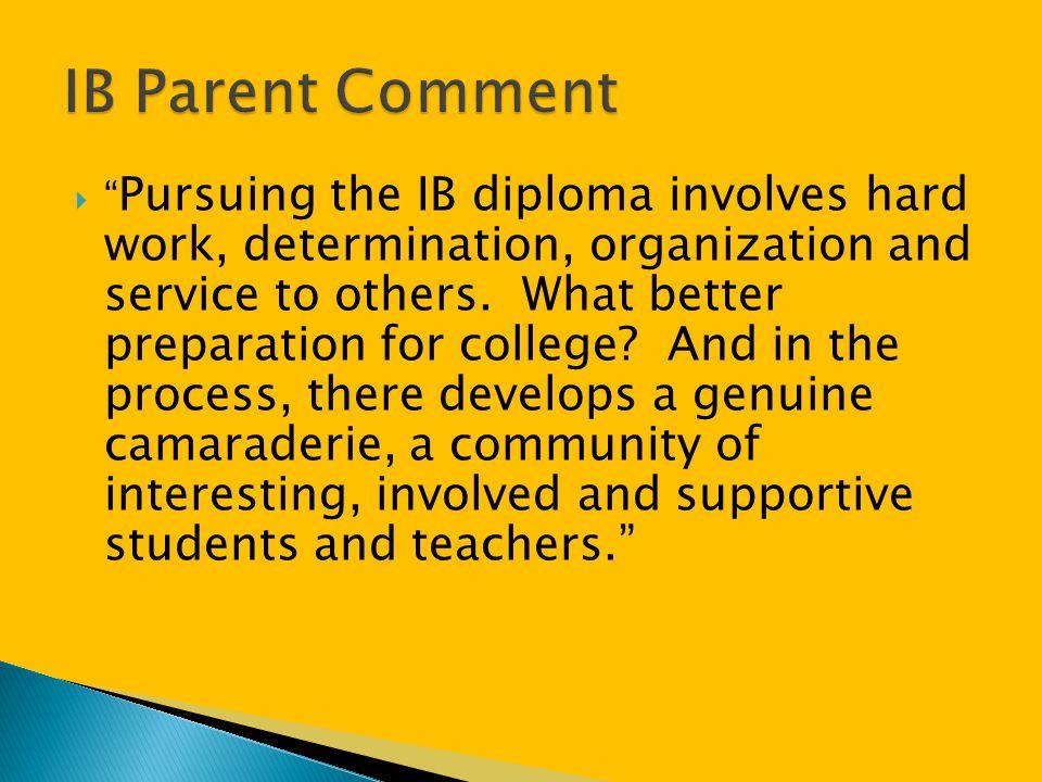IB Parent Comment