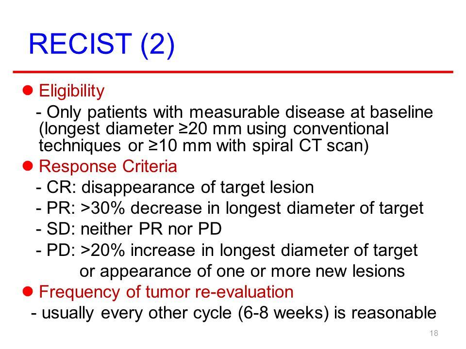 RECIST (2) Eligibility.