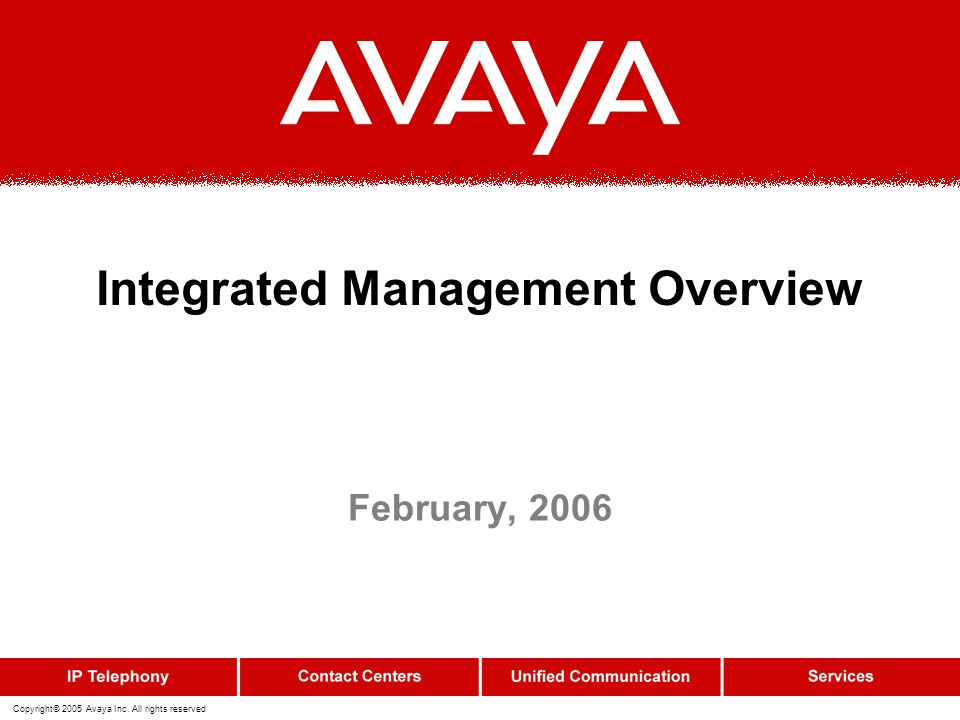 Integrated Management Overview