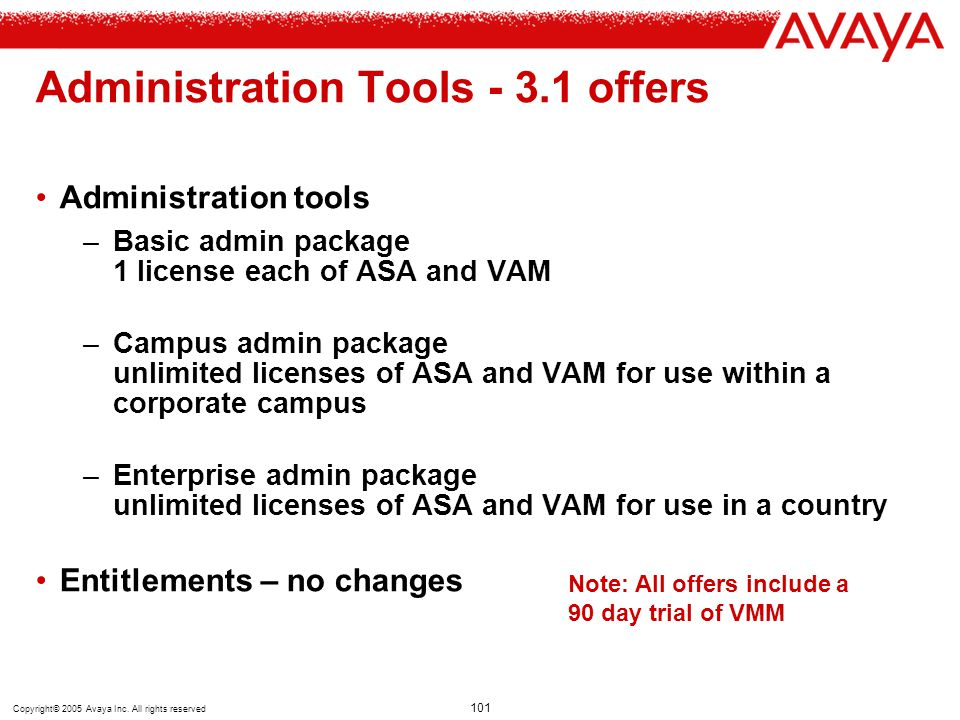 Administration Tools - 3.1 offers
