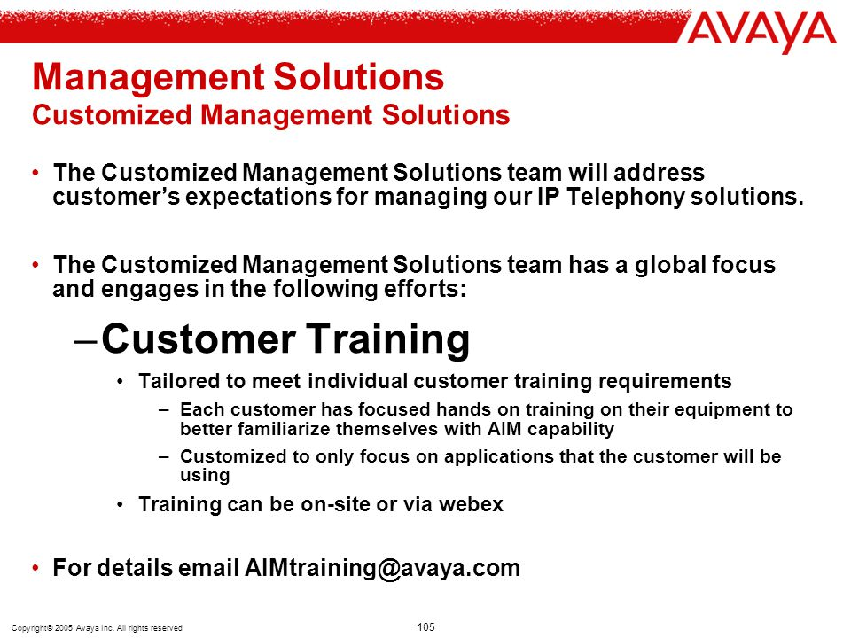 Management Solutions Customized Management Solutions