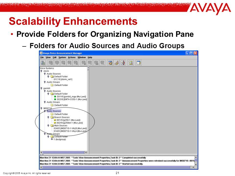 Scalability Enhancements