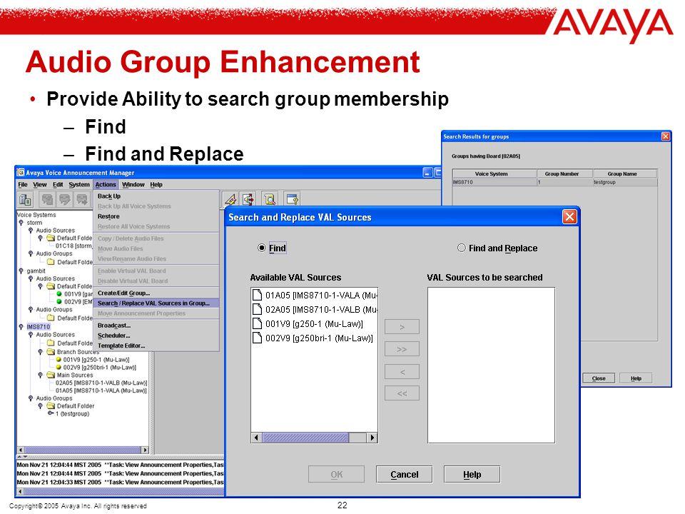 Audio Group Enhancement
