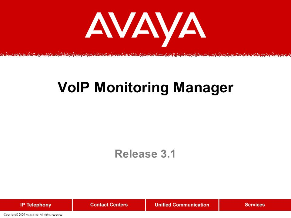 VoIP Monitoring Manager