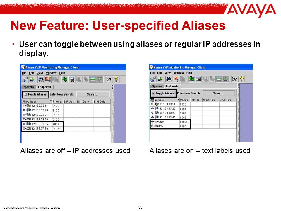 New Feature: User-specified Aliases
